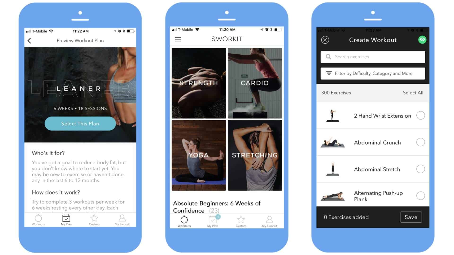 Sworkit Training App