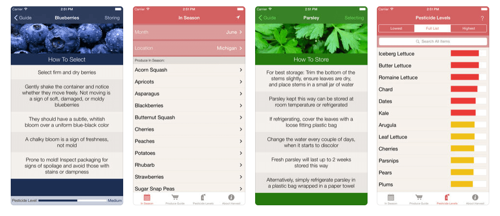 Healthy Eating Apps - Harvest