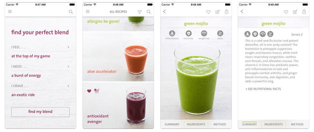 Healthy Eating Apps - The Blender Girl Smoothies