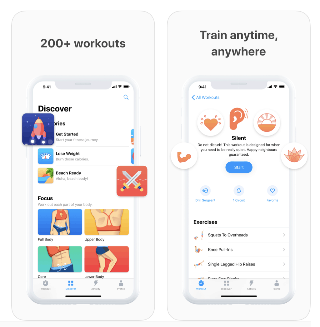 7 Minute Workout App Screenshots