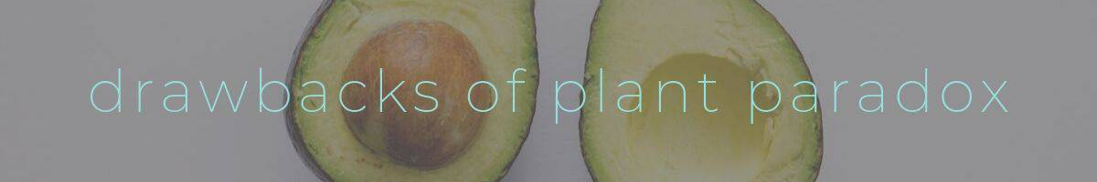 "Plant Paradox Drawbacks Header. Reading ""the drawbacks of plant paradox diet"""