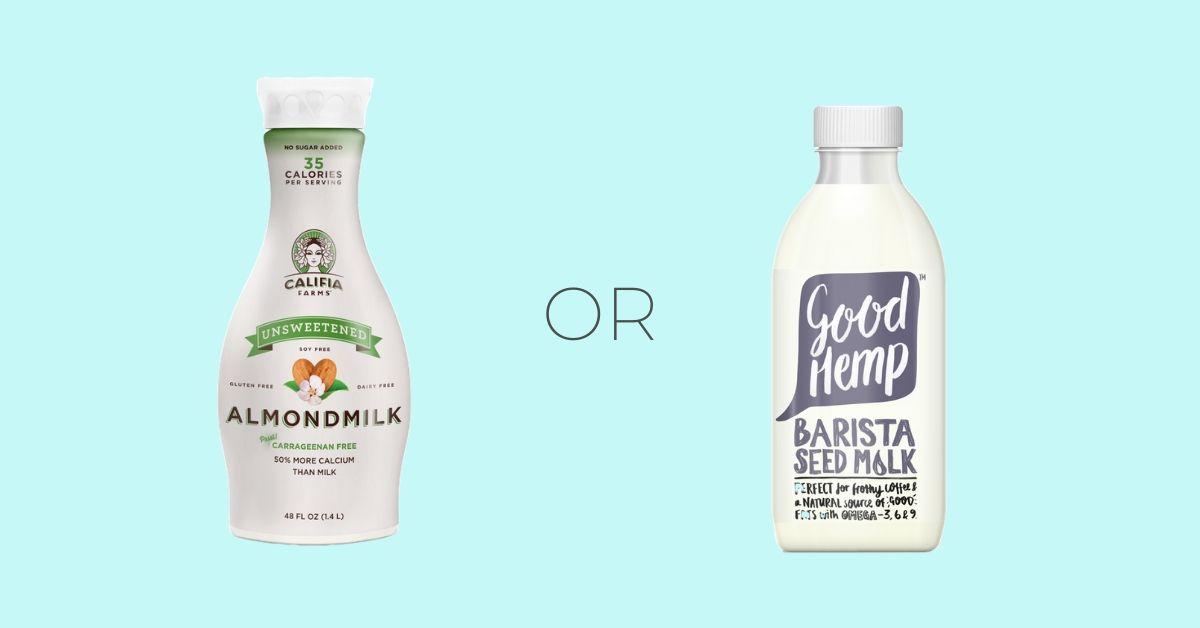 Almond Milk Hemp Milk Vegan Alternative