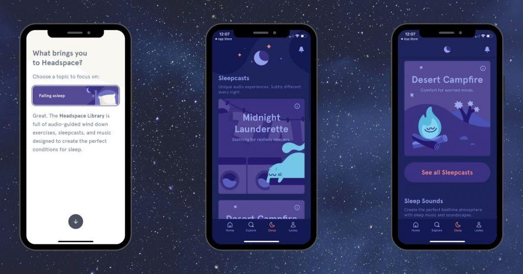 Sleep By HeadSpace Sleep Aid App Screenshots