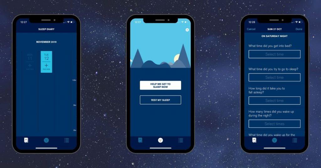Sleepio Sleep Aid App Screenshots