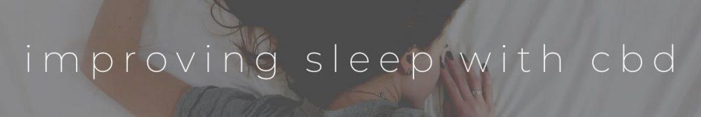 Improve Sleep Quality CBD Header