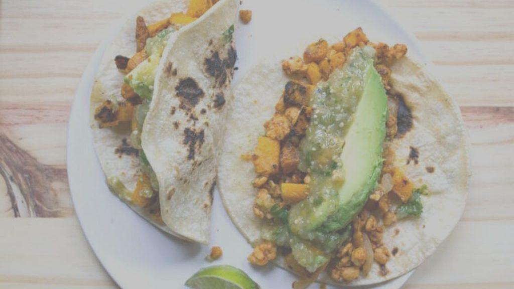 Butternut Squash Avocado Tacos