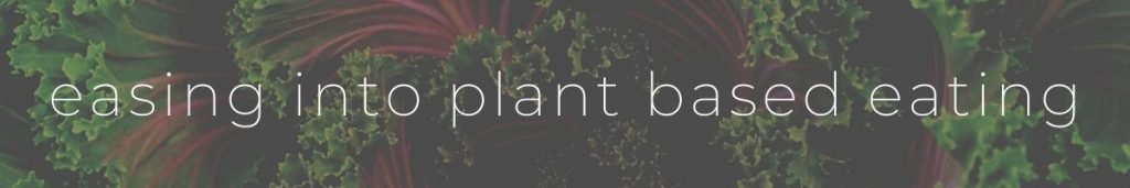 Easing into plant based eating