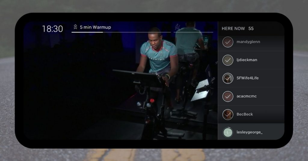 Peloton Digital App Spin Class Screen Shot